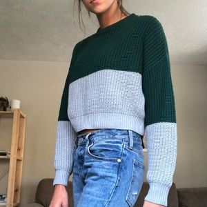 EUC knit cropped sweater